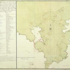 Plano del puerto y bahía de la Coruña