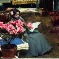 Clotilde en el estudio