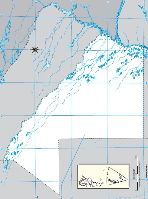 Mapa mudo del Chaco. IGN de Argentina