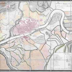 Plan de Saragosse au 21 fevrier 1809