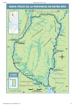 Mapa de ríos de Entre Ríos. Mapoteca de Educ.ar