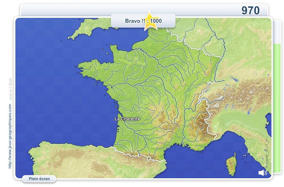 Fleuves et rivières de France. Jeux géographiques