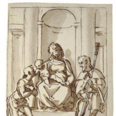 La Virgen y el Niño con San Roque y San Sebastián