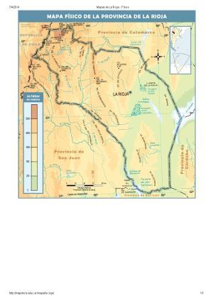 Mapa de ríos de La Rioja. Mapoteca de Educ.ar