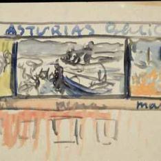 Estudio de composición para la decoración de The Hispanic Society of America