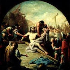 Preparativos para la Crucifixión de Cristo
