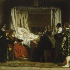 Doña Isabel la Católica dictando su testamento