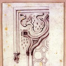 Detalle de puerta en la casa de Mossen Sorell, Valencia