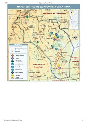 Mapa turístico de La Rioja. Mapoteca de Educ.ar