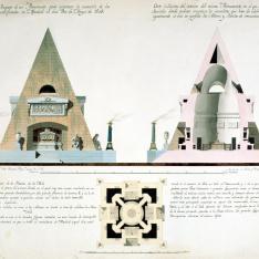 Proyecto de mausoleo o capilla sepulcral de un cementerio