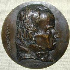 Medallón con el retrato de Charles Percier