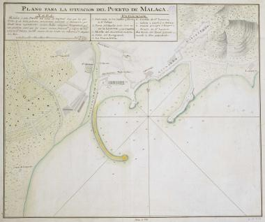 Plano para la situación del Puerto de Málaga