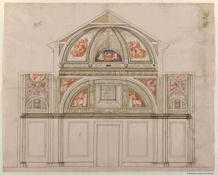 Proyecto para el Oratorio de la Reina Isabel de Borbón en el Alcázar de Madrid