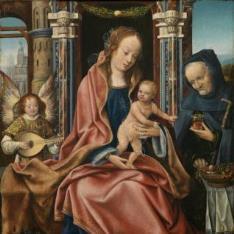 Sagrada Familia con ángel músico