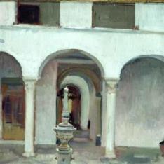 Patio y fuente de Sevilla