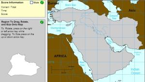 Countries of Middle East. Cartographer. Sheppard Software