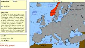 Countries of Europe. Advanced Intermediate. Sheppard Software