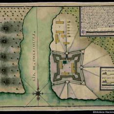 Plano figurativo dela Barra y Voca del Rio de Guasacualcos
