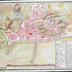 Plan de la ciudad y castillo de Alicante