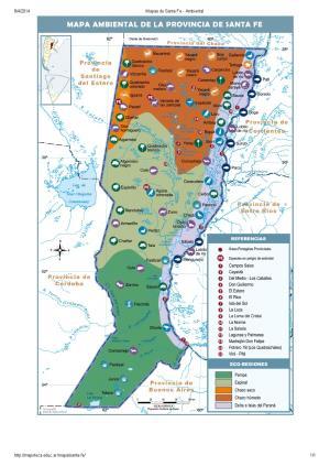 Mapa ambiental de Santa Fe. Mapoteca de Educ.ar