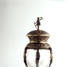 Copa de cristal con sobrecopa