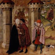 San Joaquín y Santa Ana ante la Puerta Dorada de Jerusalén