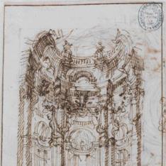 Interior del atrio de un palacio