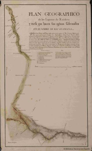 Plan geographico de Las Lagunas de Ruidera