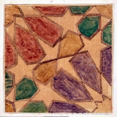 Lacería de azulejo del Palacio de Mosén Sorell, Valencia (?)