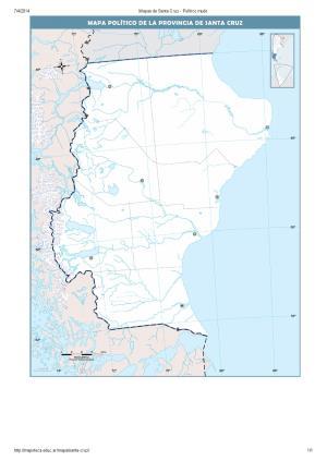 Mapa mudo de capitales de Santa Cruz. Mapoteca de Educ.ar