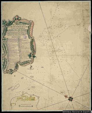 Plano y Sondéo de la Ysla Rl. Catholica de Sn. Carlos y Canal del Nordeste de la Barra del Rio Mississipí