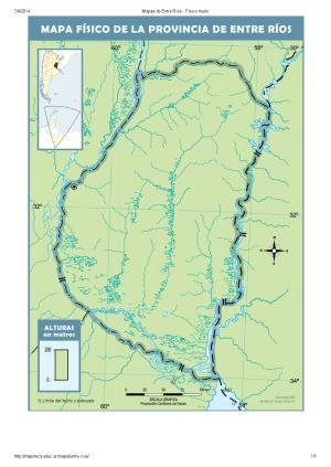 Mapa mudo de ríos de Entre Ríos. Mapoteca de Educ.ar