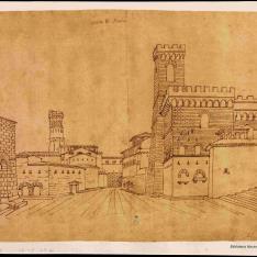 Vista de una calle de la Toscana