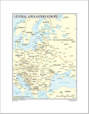 Mapa de países y capitales de Europa. Naciones Unidas