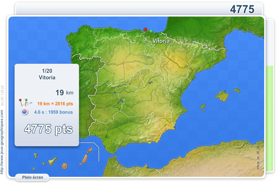 Villes d'Espagne. Jeux géographiques