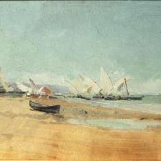 Velas en la playa de Valencia