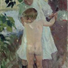 Niño desnudo, La Granja