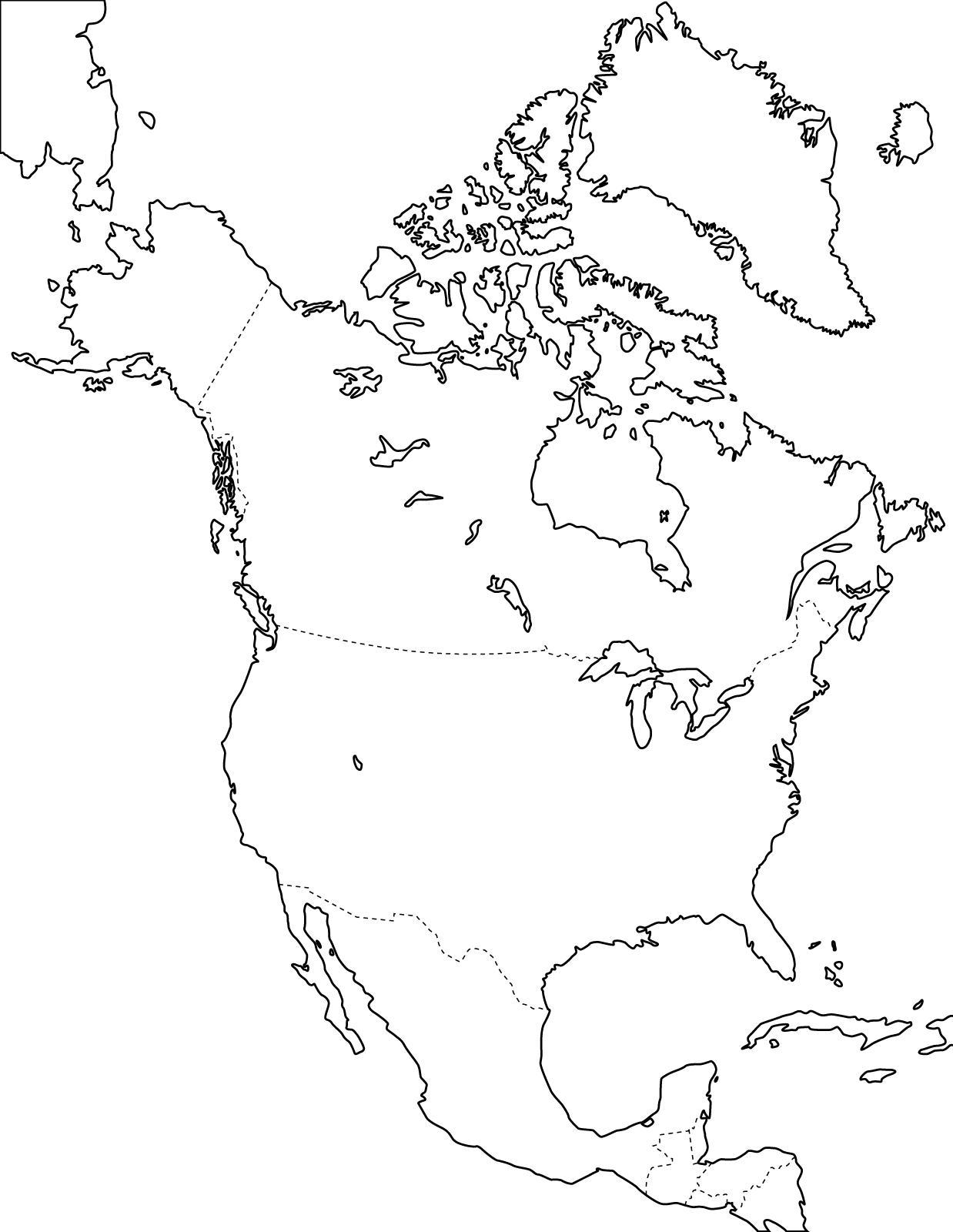 Mapa Politico Mudo De America Del Norte Para Imprimir Mapa De