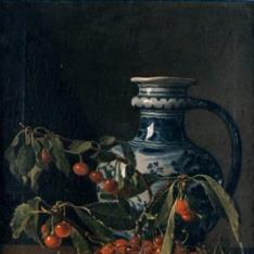 Bodegón con frutas y un jarro