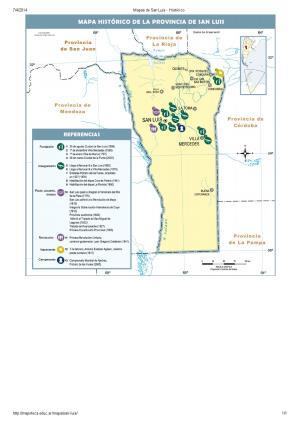 Mapa histórico de San Luis. Mapoteca de Educ.ar