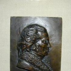 Placa con el retrato de Monsieur Dupre