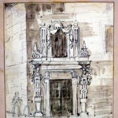 Portada de un palacio barroco