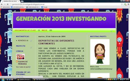 GENERACIÓN 2013 INVESTIGANDO