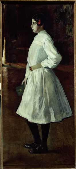 María vestida de blanco