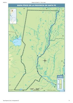 Mapa mudo de ríos de Santa Fe. Mapoteca de Educ.ar