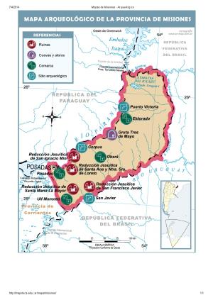 Mapa arqueológico de Misiones. Mapoteca de Educ.ar