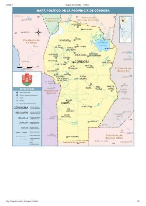 Mapa de capitales de Córdoba. Mapoteca de Educ.ar