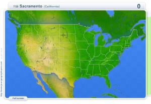 Cities of USA . Geography map games