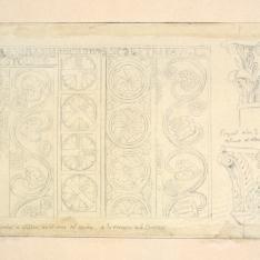 Relieves y capiteles de Santa Cristina de Lena, Asturias