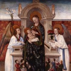 Virgen con el Niño, ángeles y familia de donantes